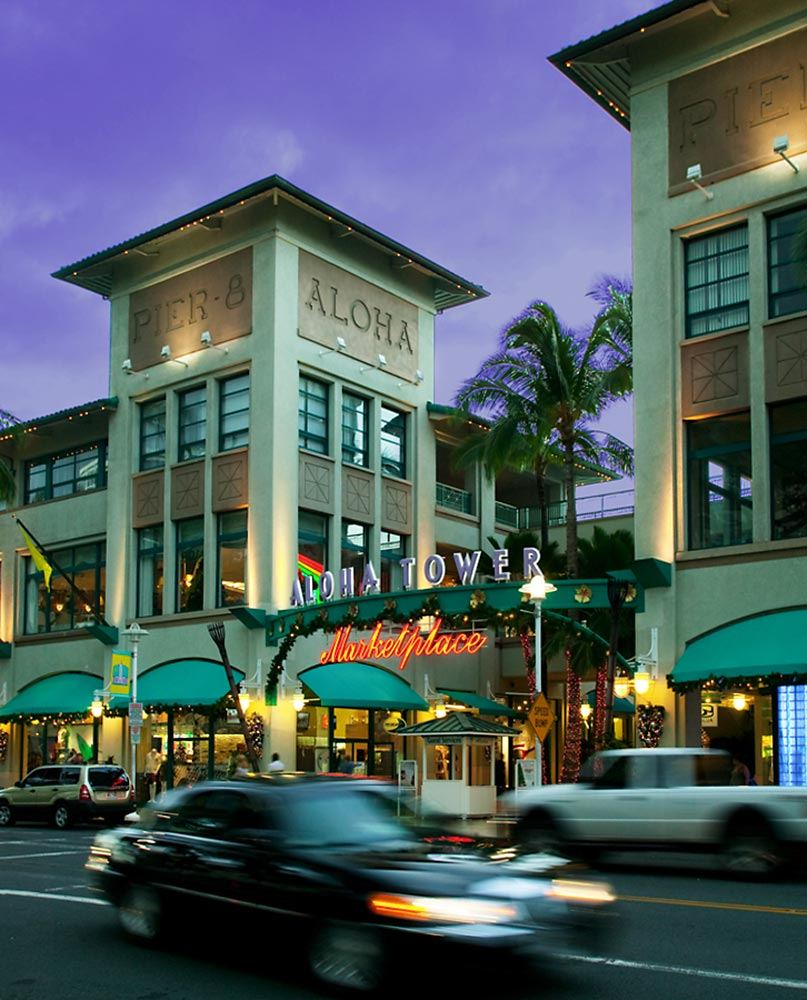 Entrance to the Aloha Tower Marketplace