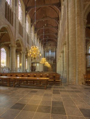 Catherdral in Delft, Holland