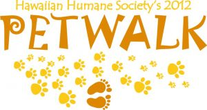 Logo for the 2012 Hawaiian Humane Society Pet Walk